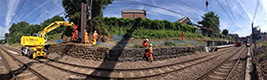Work being carried out on rail line